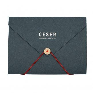 Pochette A4 Personnalisable En Carton Recyclé Forme Enveloppe ENPOCH