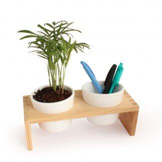 Mini Plante Et Pots En Céramique Sur Plateau De Bureau VERROBURO