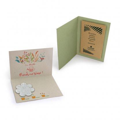 Carte De Vœux En Papier Végétal Coloré AGROCARTE