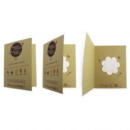 Carte De Vœux En Papier Végétal Coloré Olive AGROCARTE