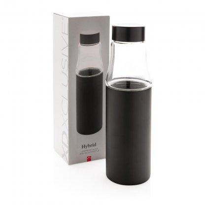 Bouteille En Acier Inoxydable Et En Verre 500ml VANAX Boite Noir