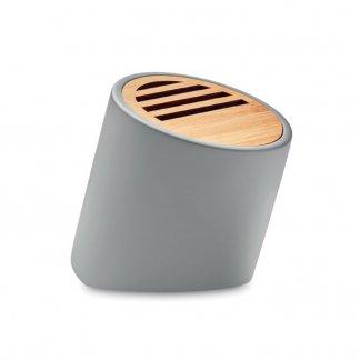 Enceinte Bluetooth publicitaire En Ciment Calcaire Et Bambou VIANA SOUND