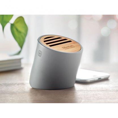 Enceinte Bluetooth En Ciment Calcaire Et Bambou VIANA SOUND Avec Marquage