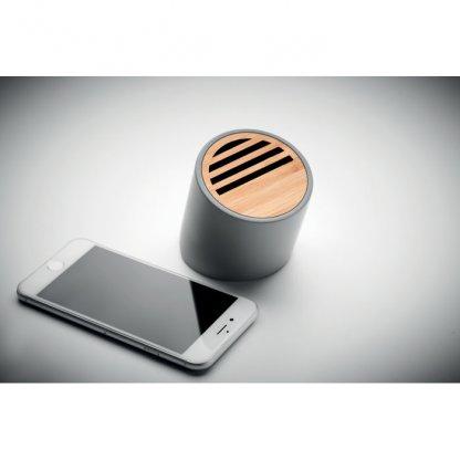Enceinte Bluetooth En Ciment Calcaire Et Bambou VIANA SOUND Avec Téléphone