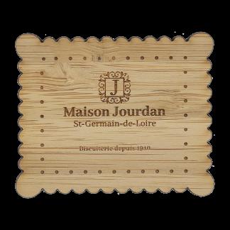 Magnet personnalisé à Votre Forme En Bambou MAGNEBAMB Gravure