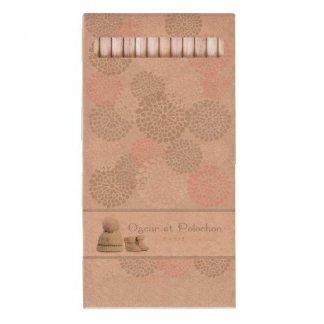 12 crayons aquarellables publicitaires en bois certifié - grands - naturel - TW-AQUA