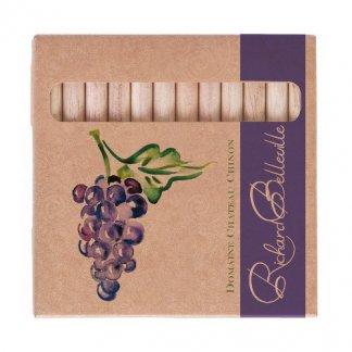 12 crayons aquarellables publicitaires en bois certifié - petits - naturel - TW-AQUA
