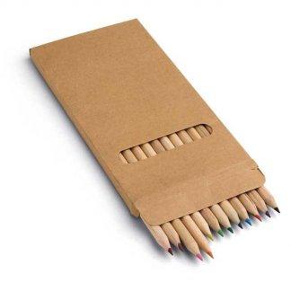 12 crayons de couleur publicitaire en bois - COLOR SET
