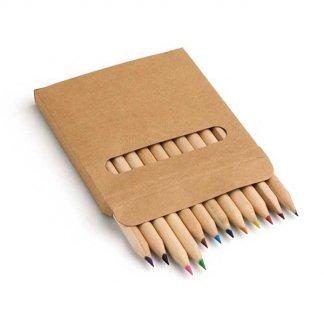 12 petits crayons de couleur publicitaire en bois - COLOR SET