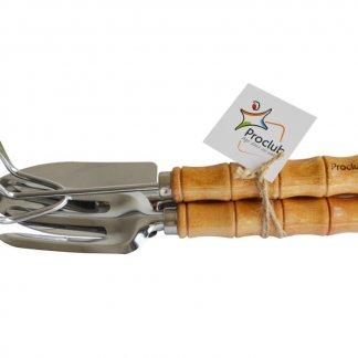 3 outils de jardin avec manche en bois personnalisé - OUTILS JARDIN