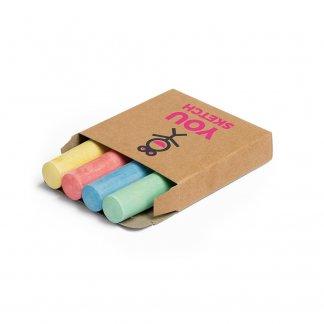 4 grosses craies de couleurs personnalisé - Avec logo - PARROT
