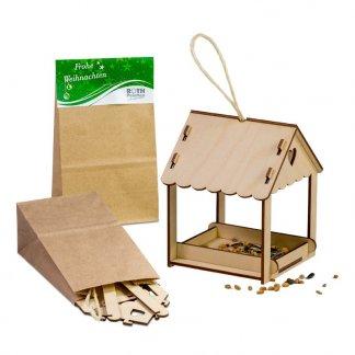 Abri pour oiseaux promotionnel en bois - 3 visuels - SAFEBIRD