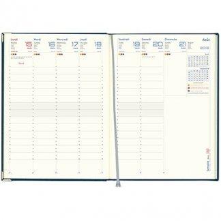 Agenda publicitaire de bureau A4 en papier certifié - Intérieur