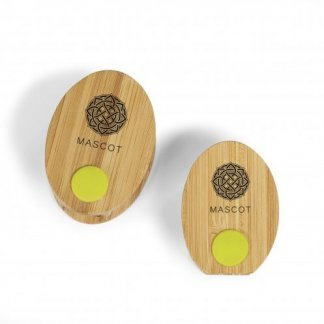 Agrafeuse + ôte-agrafes personnalisé en bambou - Avec marquage - BAMSTAP