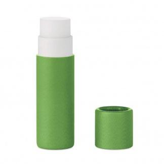 Baume à lèvres naturel dans tube en carton personnalisable - Vert - PAPER GLOSS