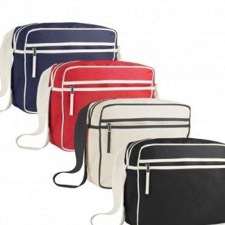 Besace Vintage promotionnelle en coton biologique - 4 couleurs - LEOPOLD