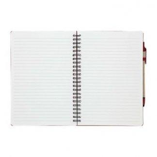 Bloc A5 publicitaire + notes + stylo en carton recyclé - Ouvert - CANIT