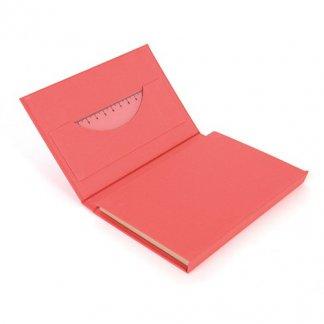Bloc A6 + règle + notes + stylo en carton recyclé publicitaire - règle - POCKET