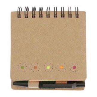 Bloc A7 + notes + ministylo en carton recyclé personnalisable - vierge - MINIBOOK