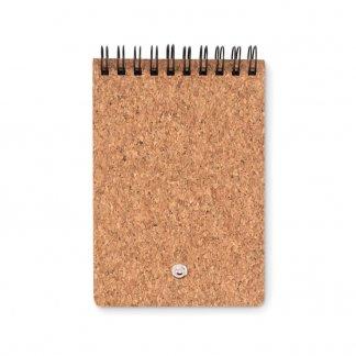 Bloc A7 personnalisable + notes + stylo en liège - Dos - MULTICORK