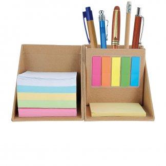 Bloc cube pliable avec notes en carton recyclé personnalisable - crayon - RECYPLICUBE