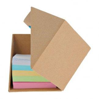 Bloc cube pliable avec notes en carton recyclé promotionnelle - RECYPLICUBE