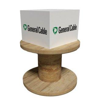 Bloc cube promotionnel sur touret en bois