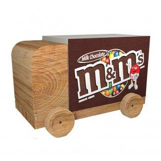 Bloc note cube camion publicitaire en papier recyclé ou certifié et bois