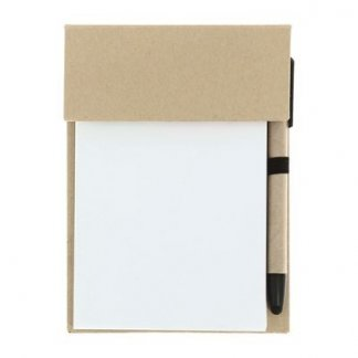 Bloc-notes A6 promotionnel + accessoires en papier recyclé - Fermé - MBCARTON