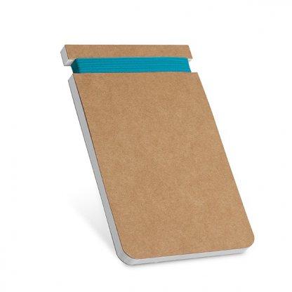 Bloc Notes A7 Publicitaire En Carton Naturel Bleu TRANSFORM