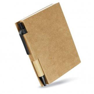 Bloc-notes A7 + stylo en carton recyclé publicitaire - CARTOPAD
