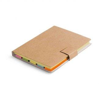 Bloc-notes de feuilles repositionnables en carton naturel personnalisable - fermé - BOOKY