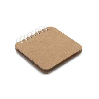 Bloc-notes de feuilles repositionnables en carton naturel personnalisable - fermé - SPIRALY