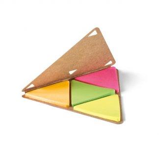 Bloc-notes personnalisable de feuilles repositionnables en carton naturel - carton - TRINOTE