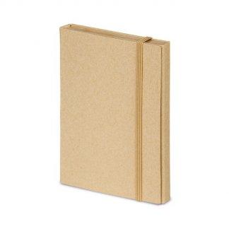 Bloc-notes personnalisé de feuilles repositionnables en carton naturel - fermé - COMPLETO