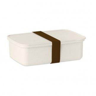 Boîte à lunch promotionnelle en PLA de maïs et fibre de bambou - Marron - NAN BOX