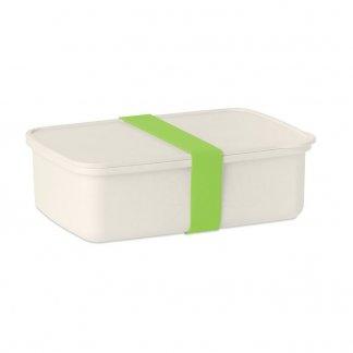 Boîte à lunch promotionnelle en PLA de maïs et fibre de bambou - vert anis - NAN BOX