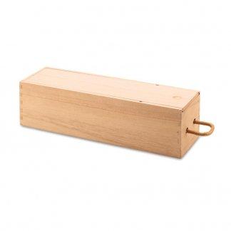 Boîte à vin personnalisable en bois de paulownia - couchée - VINBOX