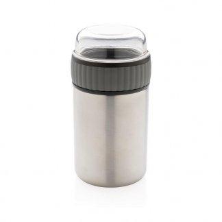 Boite alimentaire publicitaire en acier inoxydable - 380ml - CONTINOX