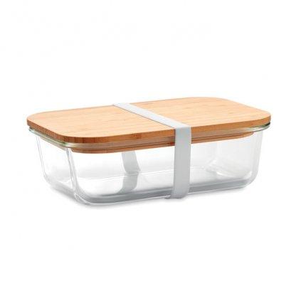 Boîte Repas En Verre Avec Couvercle Bambou TUNDRA LUNCHBOX