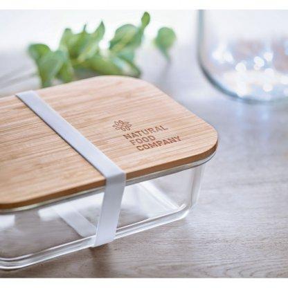 Boîte Repas En Verre Avec Couvercle Bambou TUNDRA LUNCHBOX Avec Gravure