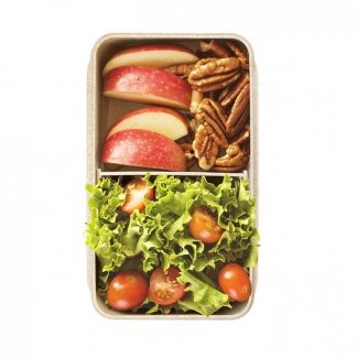 Boîte repas nomade personnalisable en fibres de blé et polypropylène - Remplie - FOODY