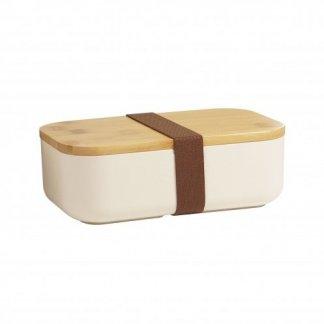 Boîte repas promotionnelle en fibres de bambou et polypropylène - fermée - BOXYBOO