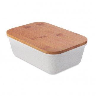 Boîte repas publicitaire en fibre de bambou et polypropylène - FANCY LUNCH