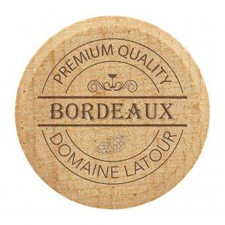 Bouchon à vin personnalisé en liège et en bois - Avec marquage - BOUCHBOUTE