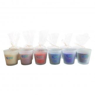 Bougie naturelle parfumée dans verre recyclé personnalisé - Toutes couleurs - BOUGIE STICKER