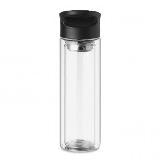 Bouteille en verre avec infuseur à thé personnalisable - 380ml - Côté - BIELO