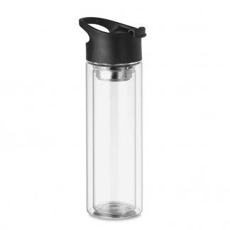 Bouteille en verre avec infuseur à thé publicitaire - 380ml - BIELO