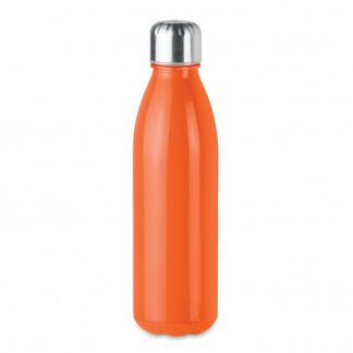 Bouteille personnalisée en verre - 650ml - Orange - ASPEN GLASS