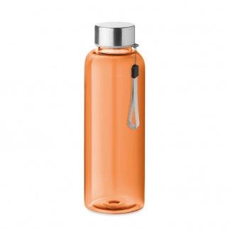 Bouteille publicitaire en bouteilles plastiques recyclées - 500ml - Orange - UTAH RPET